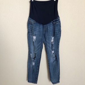 SONG Maternity Distressed 'Hole-ly' ' Skinny Jeans